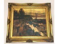 Painting by G. Ashby in a lovely gold frame