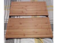 2 brand new still in box oak wooden choppin boards
