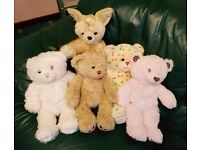 5 x build a bear teddies in nice clean condition and come from a smoke free home