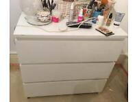 Ikea set of 3 drawers - malm