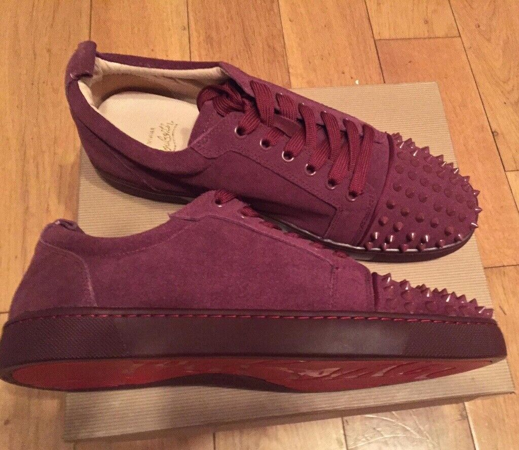 save off f01be 7e341 Christian Louboutin Burgundy Low Top Trainers Fashion Footwear Shoes Men's  Boys Loubs Various Size | in Stratford, London | Gumtree