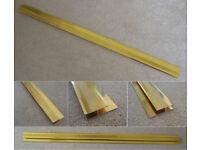 Laminate & Tile Threshold Bar - Twin-Grip / Twin-Edge - Brass/Gold