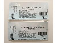 2 X Slam Dunk festival tickets - Sat 27 May - £60
