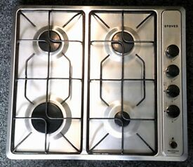 STOVES USED GAS SILVER HOB + FREE 3 MONTHS GUARANTEE