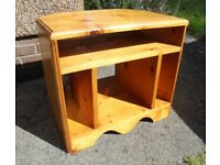 Solid Pine Corner TV Stand, Ideal to Paint