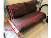 Futon Company 2 seater birch double sofa bed - good condition
