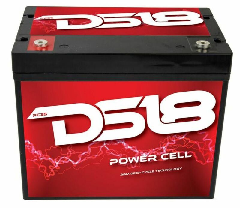 DS18 PC35 Dry Deep Cycle Car Audio Battery Marine 900W 190-230A 12V Power Cell