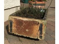 GARDEN SINK PLANTER vintage sink style planter UNIQUE AGED ITEM