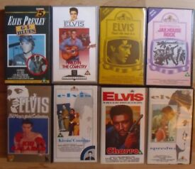 ELVIS PRESLEY,JOB LOT OF 8 (EIGHT) VHS TAPES, TOP CONDITION.FILMS.SOME ELUSIVE. £ 12