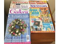 6 Cross Stitch Magazines And 1 Christmas Mag