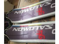 A pair of nice Salomon Aero gti 170cm long skis + Salomon bindings