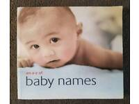 An A-Z of Baby Names book