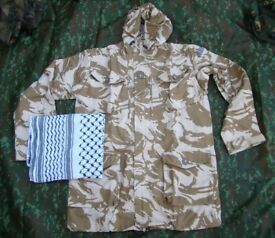British Army Soldier2000 Issue Desert Pattern Windproof Smock - Large plus FREE Shemagh Scarf