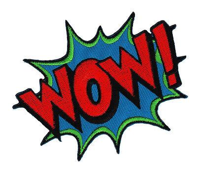 Bügelbild Patch Comic Sprechblase Superheld DIY 10 x 8 cm (Diy Superhelden)