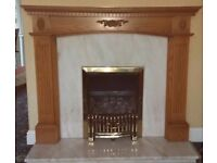 Oak Fire Surround and Marble