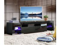 TV Unit Stand Cabinet High Gloss with led light