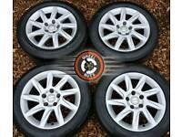 "16"" Genuine Seat alloys 5x112. Good condition. Excellent premium tyres."