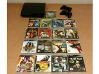 PlayStation 3 Slim 120GB with 17 games