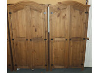 2 Pine wardrobes, 1 Chest of Drawers, 2 years old