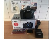 Canon EOS 70D (Body only) c/w accessories. LOW SHUTTER COUNT: 1197