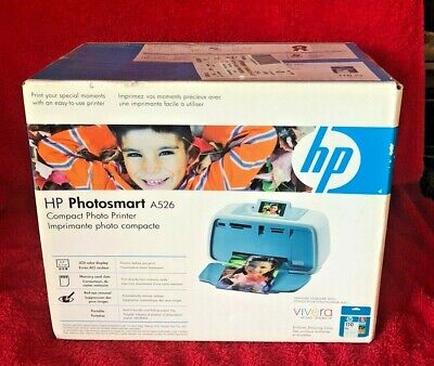 HP Photosmart A526 Compact Photo Printer BRAND NEW FACTORY SEALED!!