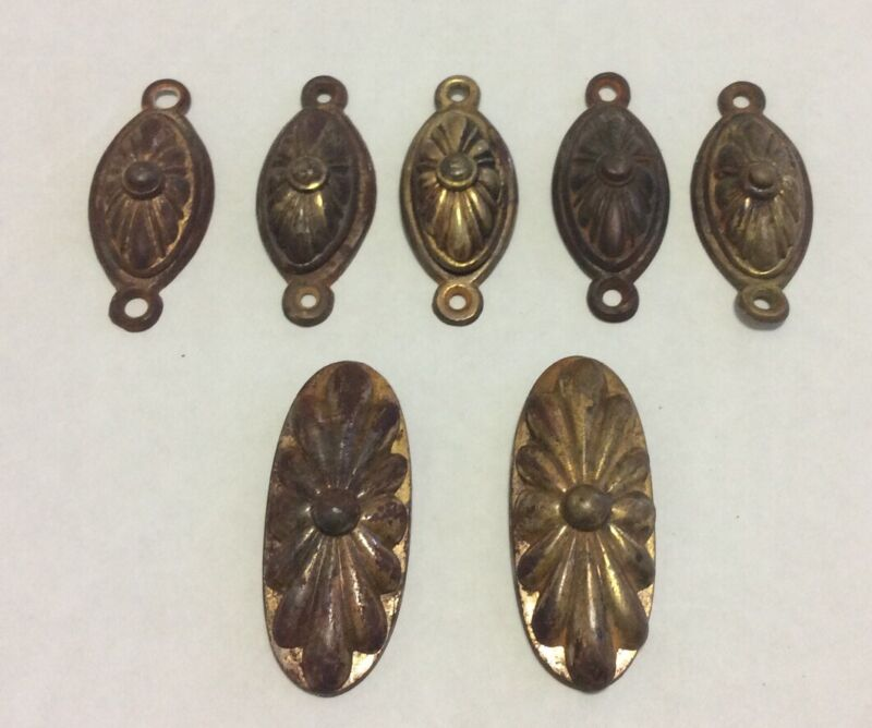 Seven (7) Vintage William Tonks & Sons Swivel Keyhole Cupboard Cabinet Cover