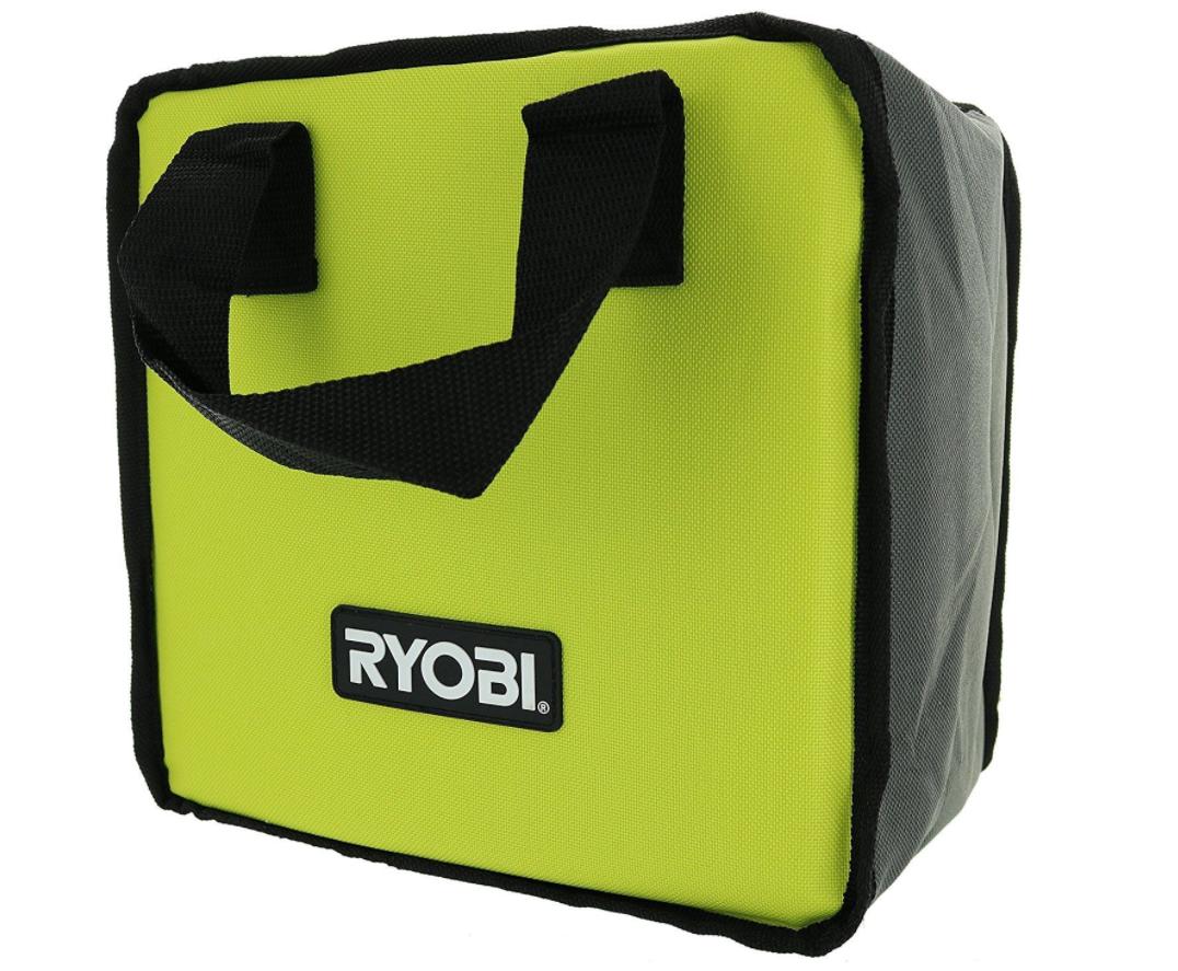 RYOBI 903209006 THICK ZIPPER TOOL BAG CASE FOR 18 VOLT DRILL