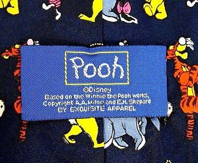 Pooh Tigger & the Whole Gang Men's Tie Genuine Disney Winnie The Pooh Navy Blue
