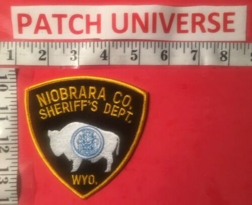 NIOBRARA CO WYOMING SHERIFF SHOULDER PATCH  M095