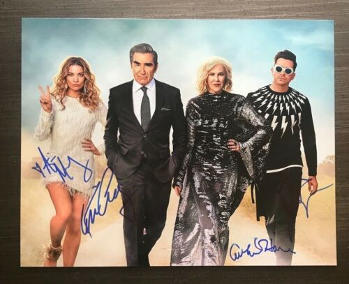 "* SCHITTS CREEK * signed 11x14 photo * EUGENE LEVY & CATHERINE O""HARE +2 * 1"