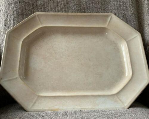 Rare Antique, 1869 Large White Davenport Ironstone Rectangular Serving Platter
