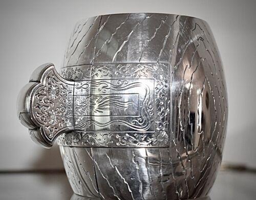 Superb Japanese Meiji Period Solid Silver Box, Uchideno Kozuchi (Gods Hammer)