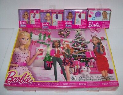 Retired new sealed BARBIE ADVENT CALENDAR + SKIPPER BABY + DOG accessory Lot
