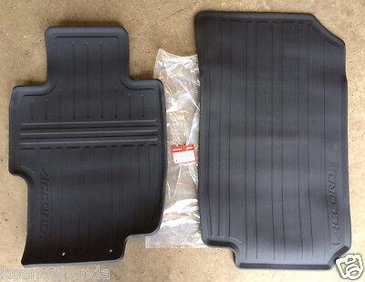Genuine OEM Honda Accord Black Front All Season Floor Mat Set 2003   2007 Mats