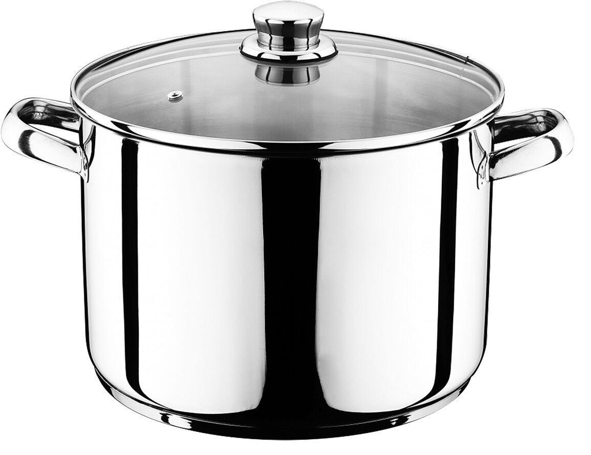 14, 12, 10 Liter Universal Kochtopf mit Glasdeckel Suppentopf Universaltopf Topf