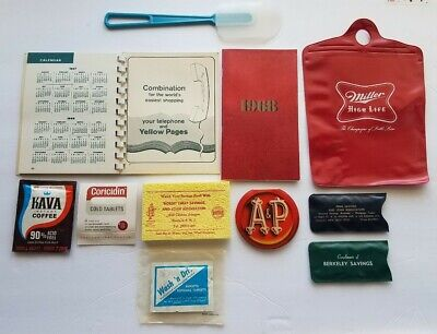 TIME CAPSULE 1968 NJ - Lot of Vintage Items, Medicine, Sewing, Date Book etc...