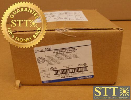 "5337 T&b Liquidtight 2"" Straight Metal Conduit Connector 5-pc Box New"