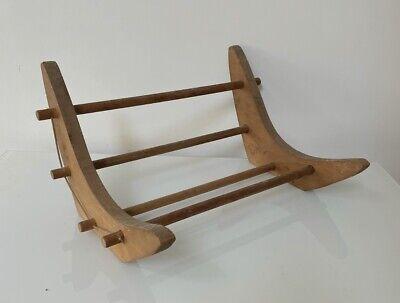 Vintage Wooden Book Shelf Stand Cradle