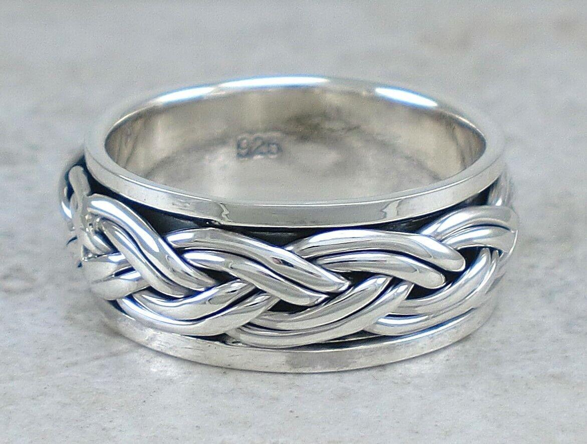 Bali Pattern Spinner Ring  925 Sterling Silver  Bali Spinner Ring  Sterling Spin Ring
