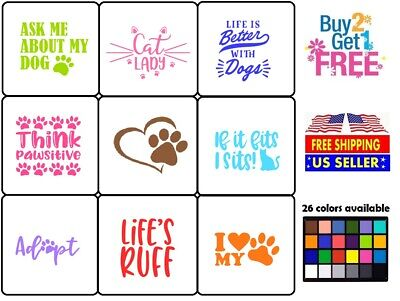 Vinyl Decal Sticker Pets Lover A Dogs Cats Lovers Home Wall Laptop Cup Car