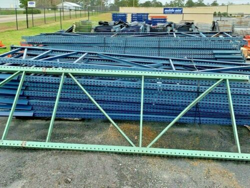 "Used Teardrop Uprights for Pallet Racking, 42"" x 18"