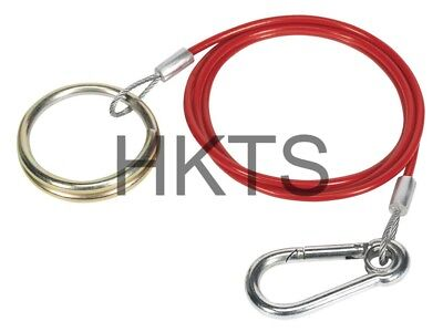 Trailer Breakaway Cable, Ring End, Coiled, Caravan, Safety Cable, Brake, 3mm, HD
