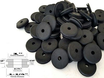 Lot Of 25 Rubber Grommets 14 Inside Diameter - Fits 1 Panel Holes
