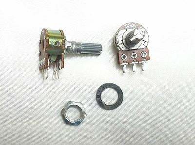 3-pack Singledouble Rotary Potentiometer Pot Pots 250k Ohms 250 K Usa Free Ship