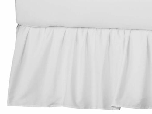 American Baby Company Ultra Soft Microfiber Ruffled Porta/Mini-Crib Skirt Whi...