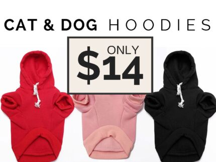 Fleece Hoodie for Dogs & Cats Helensvale Gold Coast North Preview