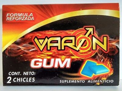 CHEWING GUM SEX ENHANCEMENT MAN CHICLE VARON GUM PARA VIGOR SEXUAL MEN
