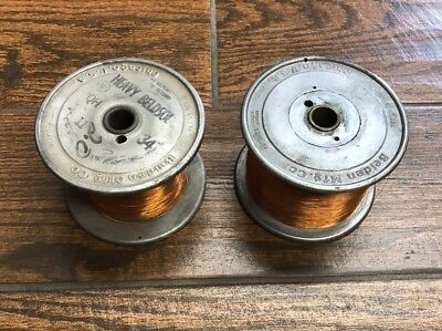 1 Vintage Beldon Mfg Co Wire Spool Steel Industrial Decor with over 2 Lbs wire