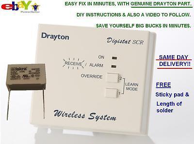DRAYTON DIGISTAT SCR RF WIRELESS REPAIR PART / DIY fix CAPACITOR Iskra 0.68uF