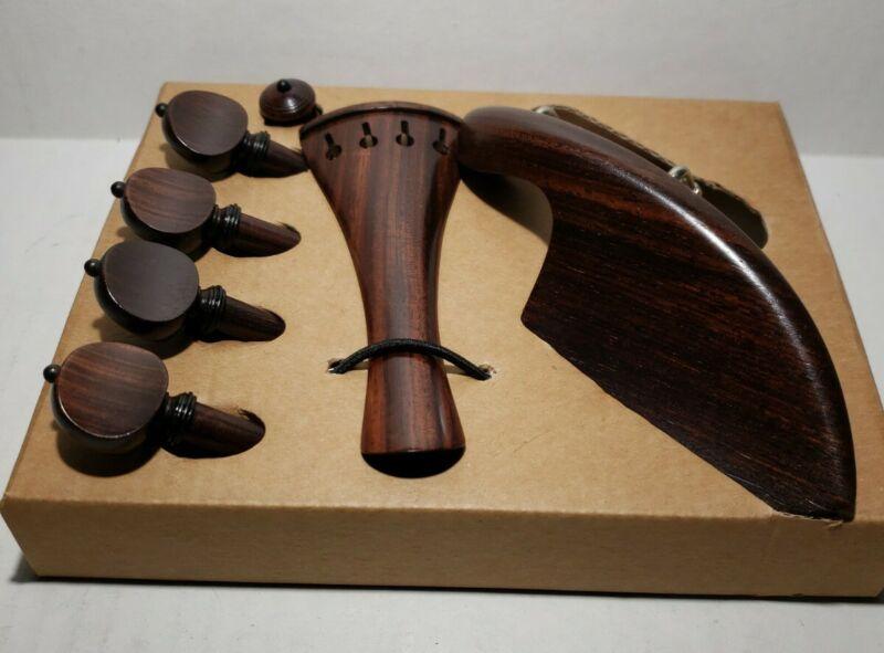 Made in Cremona Italy 4/4 Violin Chinrest Ebony with Titanium Screw. No Logo.9
